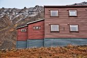 Traditional house in Svalbard, Norway Europe