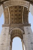 stock photo of charles de gaulle  - Triumphal arch seem from below - JPG