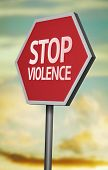 Creative sign with the message - Stop Violence