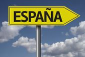 Concept for travel subject - Espa�?�±a yellow sign