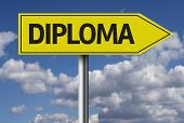 Diploma creative sign