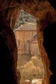 foto of templar  - view of a Templar chapel from inside a cave - JPG
