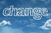 Amazing Change text on clouds