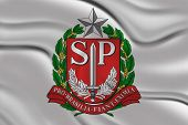 Flag of Coat of arms of Sao Paulo , Brazil