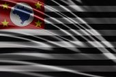 Amazing Flag of the State of Sao Paulo , Brazil