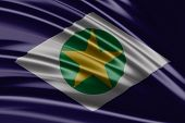 Amazing flag of the State of Mato Grosso , Brazil