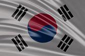 Amazing Flag of South Korea , Asia