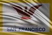 Amazing Flag of the States of San Francisco , United States ( USA ) , America