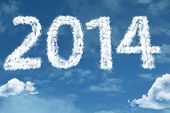 foto of reveillon  - 2014 on clouds - JPG