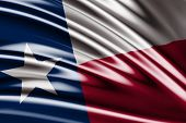 Amazing Flag of the States of Texas , United States ( USA ) , America
