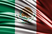 Amazing flag of Mexico , Central America