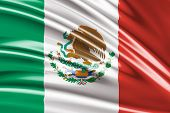 Amazing Flag of Mexico ( Central America )