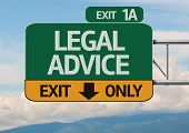 Creative Legal Advice Exit Only, Road Sign
