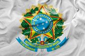 picture of bandeiras  - Flag of the Coat of Arms of Brazil  - JPG