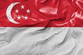 Amazing Flag of Singapore, Asia