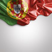 stock photo of bandeiras  - Amazing Flag of Portugal - JPG