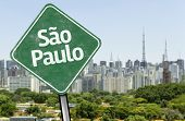 Sao Paulo Sign on the skyline, Brazil