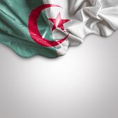 Waving flag of Algeria, Africa