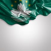 Waving flag of Macau, Asia