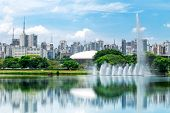 stock photo of fountain grass  - Ibirapuera Park in Sao Paulo - JPG