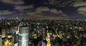 Sao Paulo in Brazil at night
