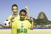 Brazilian fans celebrate in Rio de Janeiro, Brazil
