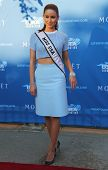 Miss USA 2014 Nia Sanchez from Nevada at the red carpet before US Open 2014 opening night ceremony