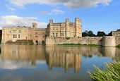 Leeds Castle and reflection on lake