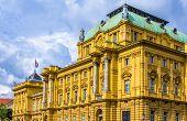 Facade Of Croatian National Theatre In Zagreb