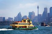 Sydney ferry approaches Fort Denison