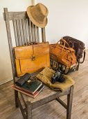 Vintage male bag and accessory