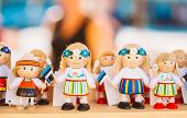 Colorful Estonian Wooden Dolls At The Market
