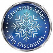 Blue Christmas Sales / Big Discounts Icon