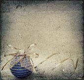 Blue Christmas Ball And Ribbon