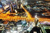 Dubai, Uae - September 10: Night View On Dubai City, On September 10, 2013, Dubai, Uae. In The City