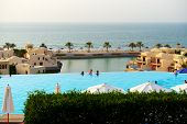 Ras Al Khaimah, Uae - September 7: The Tourists Enjoying Their Vacation At Luxury Hotel On September