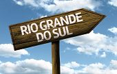 Rio Grande do Sul, Brazil wooden sign on a beautiful day