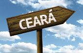 Ceara, Brazil wooden sign on a beautiful day