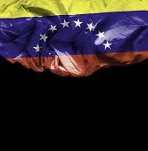 Venezuela waving flag on black background