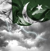 Pakistan waving flag on a bad day