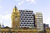 MELBOURNE, AUSTRALIA - CIRCA JAN 2014: The famous Flinders Street Station, Melbourne, Australia