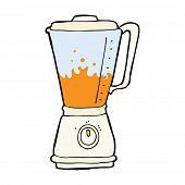 stock photo of blender  - cartoon juice blender - JPG