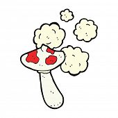 picture of toadstools  - cartoon toadstool mushroom - JPG