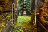 picture of hindu temple  - Traditional Hindu Bali Temple in Jungle near Ubud Indonesia - JPG