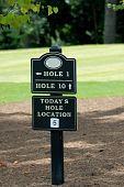 Golf Marker Sign