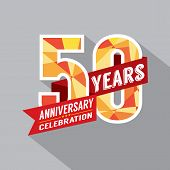 image of 50th  - 50th Year Anniversary Celebration Design Vector - JPG
