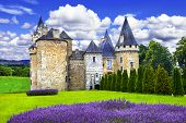 foto of castle  - Fairy castles of France series - JPG