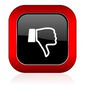 foto of dislike  - dislike icon thumb down sign  - JPG