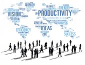 pic of productivity  - Productivity Mission Strategy Business World Vision Concept - JPG