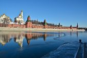 Постер, плакат: The Moscow Kremlin And Moscow River